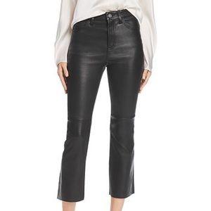 Current/Elliott High Waist Kick Leather Pant - M06